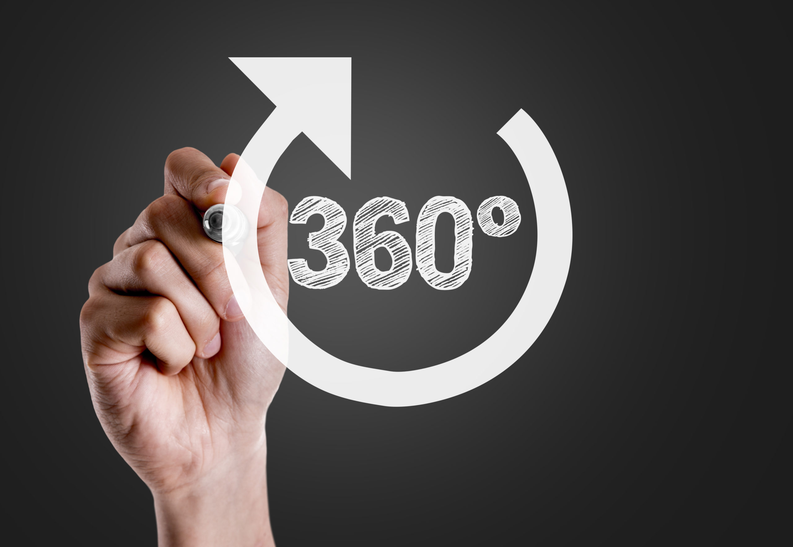 writing 360 on the board