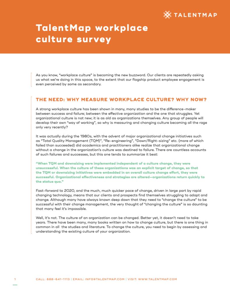 workplace culture surveys