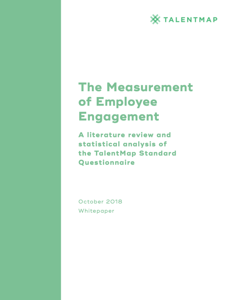 the measurement of employee engagement